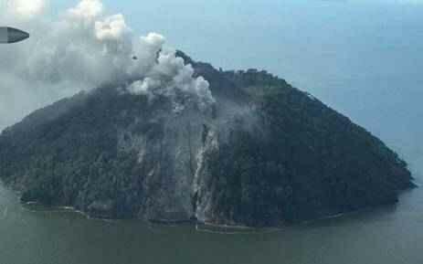 Извержение вулкана в Папуа-Новая Гвинея