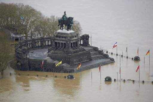 Наводнение в Германии и Франции