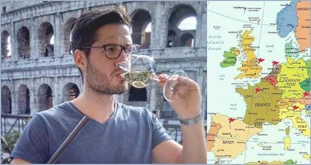 Бесплатные путешествияпарня изБельгии