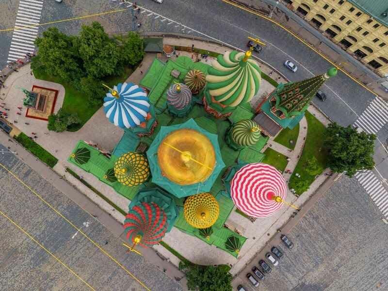 Красная площадь города Москвы