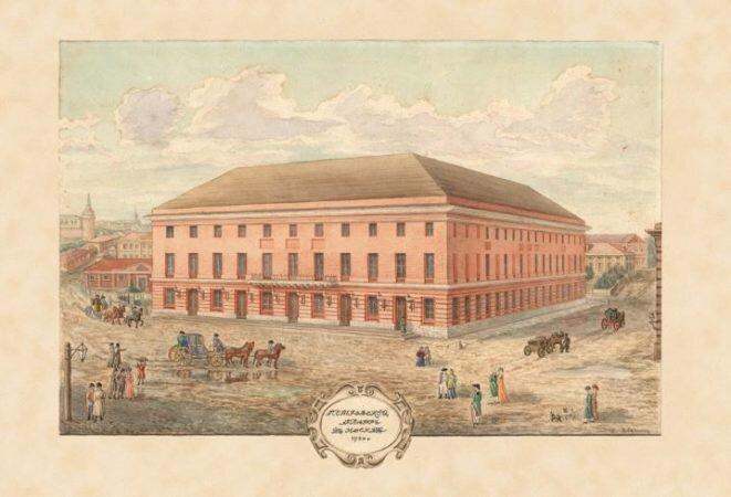 Старое здание Большого театра в Москве