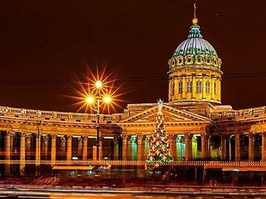 Новогодние города России Питер