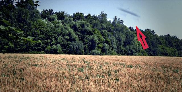 Летающие стержни попали на видео