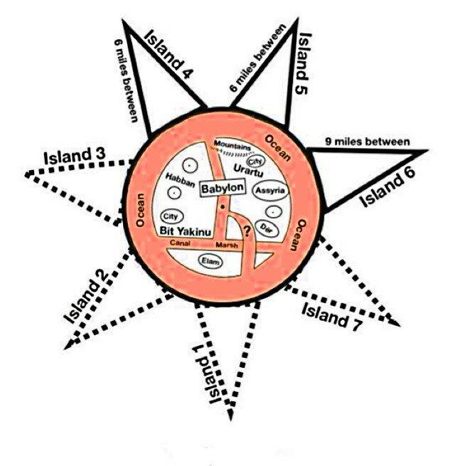 Вавилонская древняя карта