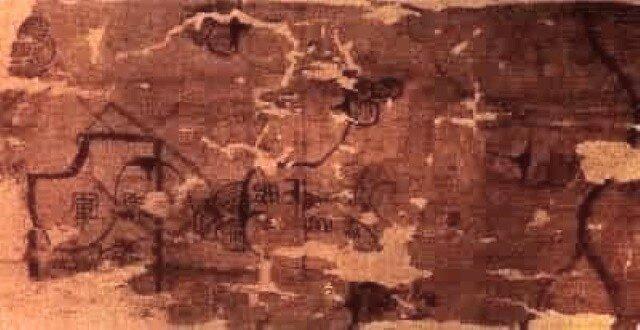 Древняя карта Китая